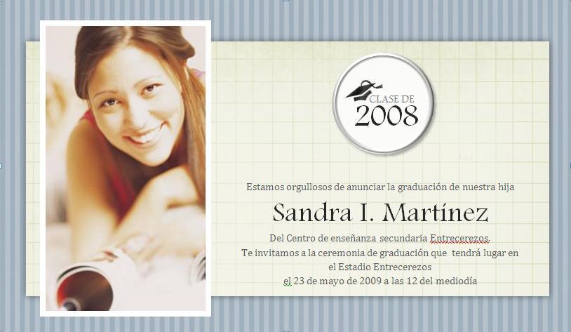 tarjeta de graduación « Profesor BETO